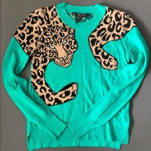 BCBG Maxazria Leopard Sweater